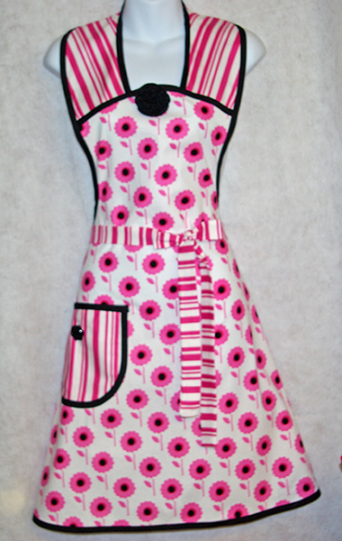 Black and Pink Apron
